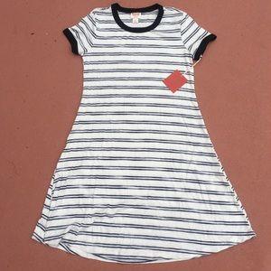 Black and white striped t-shirt dress NWT